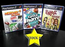 LOTTO STOCK 3 GIOCHI D'AZIONE FAMILY PARTY BRATZ MERCURY PS2 NUOVO ITA STOCK41