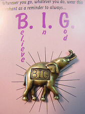 """JJ"" Jonette Jewelry Bronze Pewter 'God's Creatures - BIG' Tac Pin"