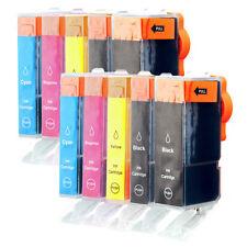 10x Patronen Tinte für Canon PIXMA MP980 MP640 MP630 MP620 kompatibel zu CLI-521