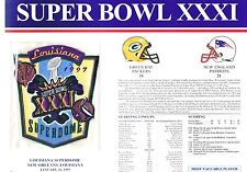Super Bowl XXXI New England Patriots Packers Willabee Ward Football Jersey Patch