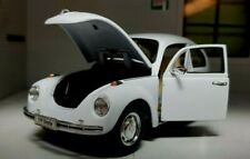 G LGB 1:24 Scale VW Beetle White 1600 1302 1970-73 Welly Detailed Diecast Model