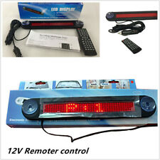 12v Car Red Led Editable Message Sign Scrolling Display Board Remote Control Set