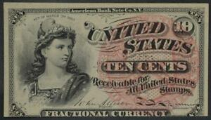 Fr. 1258 10¢ Ten Cents 4th Fourth Issue Fractional Currency No Reserve 99C Open