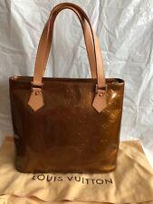 Authentic Louis Vuitton Vernis Bronze Houston Handbag
