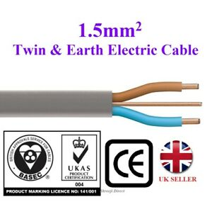 1.5mm Twin and Earth Electric Cable Wire Domestic Electrical Lighting Best Price