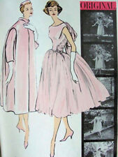 1957 Vintage VOGUE Sewing Pattern DRESS & COAT B34 inch (1839R) By 'Patou'