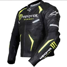 MONSTER ENERGY Moto Racing Giacca in Vera Pelle