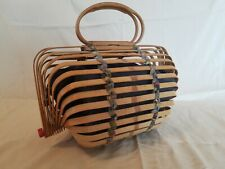 Japanese-style Bamboo cage bag with inner purse/bag