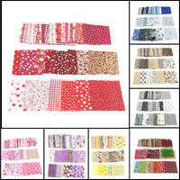 FJ- 50Pc Floral Patchwork Cotton Fabric Plain Cloth for DIY Sewing Quilting Reli