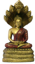 Buddha in Meditation with Protective Naga Snake Statue 5H O-097GR