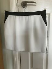 Ladies/Girl's Top Shop Mini Skirt White with Black Trim in UK Size 10