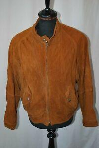Vintage Hugo Boss Twenty suede bomber harrington jacket in size small made Italy