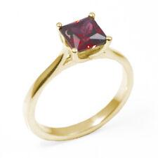Engagement Ring Diamond Unique Princess Cut 1 carat Ruby 9 Carat Gold