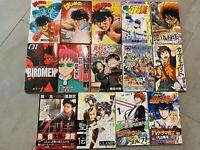 Japanese Manga Lot of 14 Used Graphic Novels Shonen Jump Comics Volumes