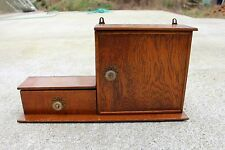 Small Mid Century Modernist medicine bathroom Cabinet Wood Cupboard #678