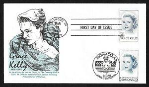 #2749 29c Grace Kelly, Actress / Princess - Joint FDC US & Monaco #1851