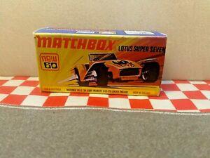 Matchbox Lesney Superfast  No60 Lotus Super Seven EMPTY REPRO BOX ONLY NO CAR