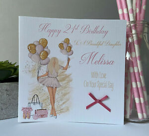 Personalised Female Birthday Card Girls 16th 18th 19th 21st 30th 40th Daughter