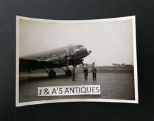 New listing Original 1940's Wwii U.S. Military Airplane & Crew Photo