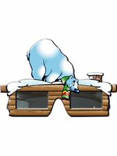 Brille Aprés Ski Eisbär Party Spaß Fasching Partybrille