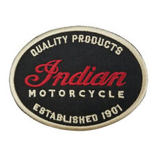 NEW!!  INDIAN MOTORCYCLE OVAL IRON ON PATCH  - AMERICANA - MOTORBIKE - RRP £7
