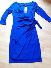 Coast Farah Jersey Wrap Dress Blue Size 10 Party Wedding Formal