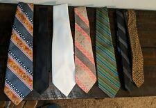 Vintage Lot of 7 Neckties Vintage Tie Grab Bag! Patterns Solids