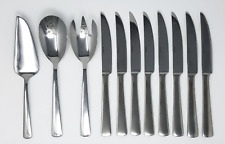 Oneida Stainless Steel 11 Piece Completer - 3 Serving pieces and 8 steak knives