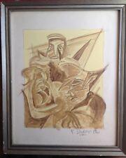 Fortunato DEPERO (1892-1960)  Futurismo Tre Maschere Castigliano c1940 Original