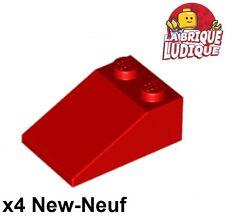 Lego - 4x slope brique pente inclinée 33 3x2 rouge/red 3298 NEUF