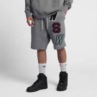 Nike Sportswear Herren Kurze Hose Fleece Shorts Grau 930248-091 Neu Gr.L