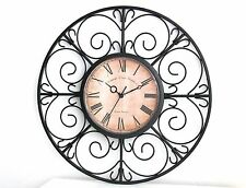 Vintage/Retro Round Wall Clocks with Battery Backup