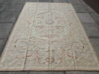 Old Traditional Hand Made French Design Wool Grey Original Aubusson 267X191cm