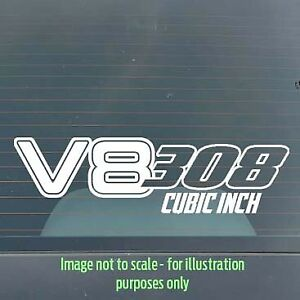 150mm 308ci V8 Holden / Ford / Chev / Chrysler car / toolbox / tackle box decal