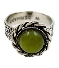 Irish Connemara Marble Silver Tone Adjustable Ring - J. C. Walsh & Sons