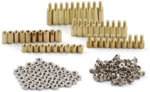 ZYAMY 150pcs M3 Hex Brass Spacer Standoff Circuit Spacer PCB Board Nut Screws As