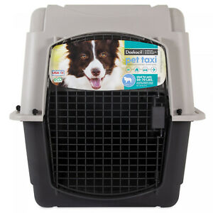 New Doskocil Pet Taxi Carrier Multiple Sizes For Pets 10 -90 lbs, Gray/Black