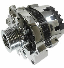 Chevrolet GM Chrome 100 AMP High Out Put Alternator 1 One Wire SBC LT1 only 87-