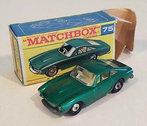 75-B3 Near MINT! w/F2 Box Chrome Wheel Ferrari Berlinetta Lesney Matchbox c '69