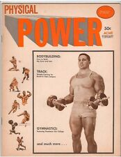 physical POWER bodybuilding muscle magazine/BILL PEARL 2-64 Vol 5 #1