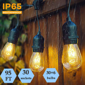 2 Sets 29M Heavy Duty Festoon Outside String Lights Indoor Outdoor Party Wedding