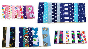 NEW NEWBORN Fleece Nappy Liners For Cloth Nappies Various Designs set of 10