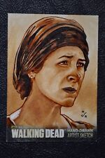 Walking Dead Season 3 Carol Sketch Art by M. Jason Reed Trading Card CZE