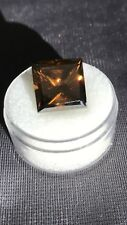 10.45ct VS1 (12.54mm) AAA PRINCESS FANCY CHAMPAGNE BROWN LOOSE MOISSANITE