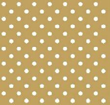 6 Vintage Cocktail Paper Napkins (25cm x 25cm) Decoupage Gold Dots