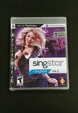 SingStar Vol. 2 (Sony PlayStation 3, 2008) Brand NEW Factory Sealed