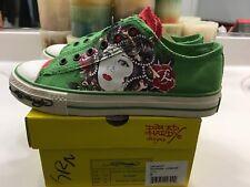Women's Ed Hardy Green Skull Ghost Lady Lowrise Sneakers (U.S. Size 5 M) NIB