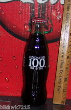 2013 GEORGIA STATE UNIVERSITY 100 YEARS 80Z COCA COLA GLASS BOTTLE HARD TO FIND
