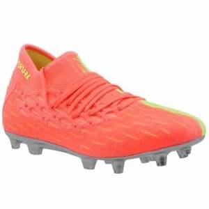 Puma Future 5.2 Netfit Osg Firm GroundAg   Mens Soccer Cleats     - Pink,Yellow