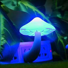US Plug Mushroom Wall Socket LED Sensor Night Light Lamp Baby Kids Bedroom Decor